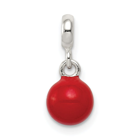 Sterling Silver Red Enameled Bead Enhancer