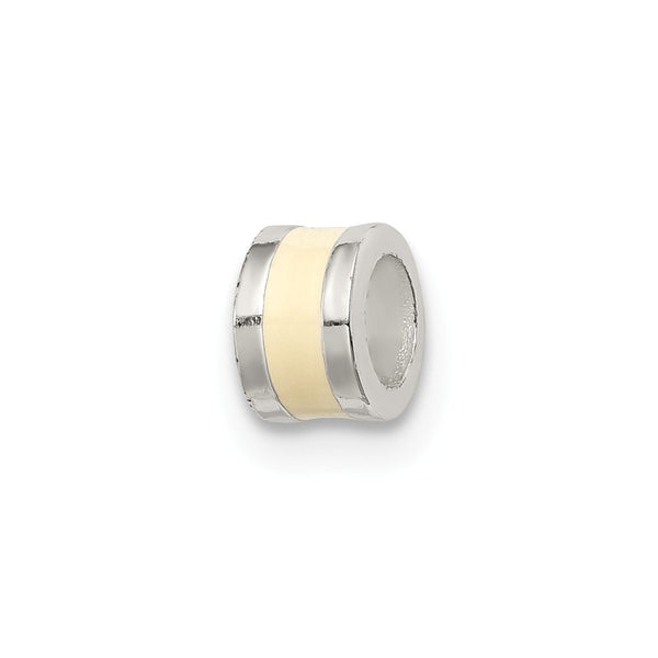 Sterling Silver Cream Enameled Spacer Enhancer