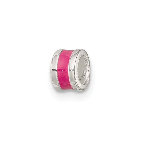 Sterling Silver Hot Pink Enameled Spacer Enhancer