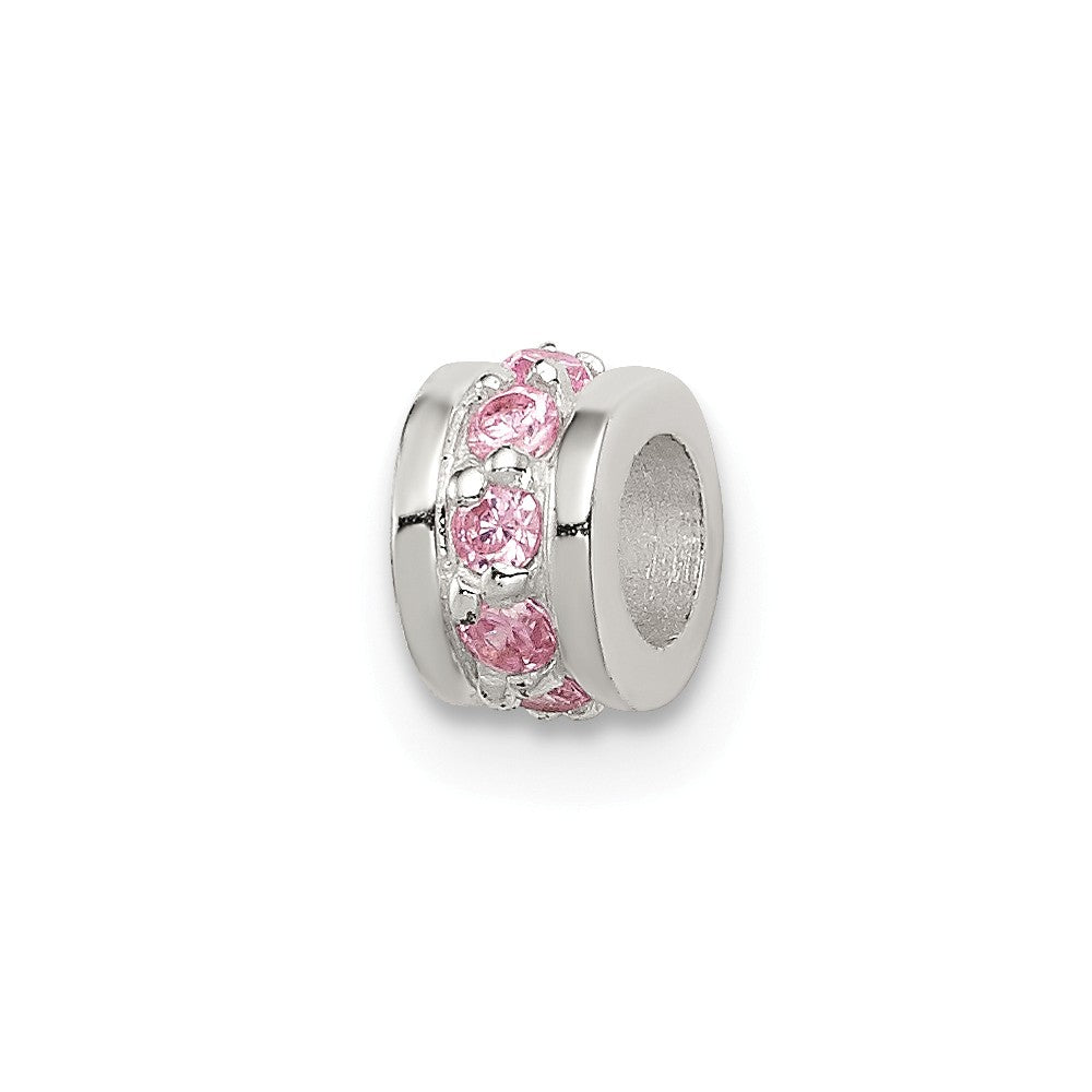 Sterling Silver Pink CZ  Spacer Enhancer