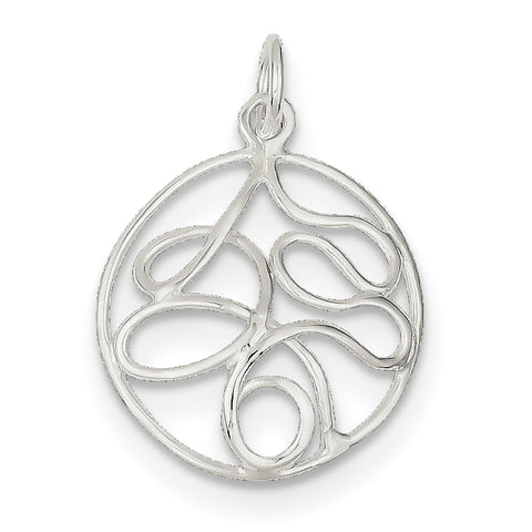 Sterling Silver Round Polished Fancy Pendant