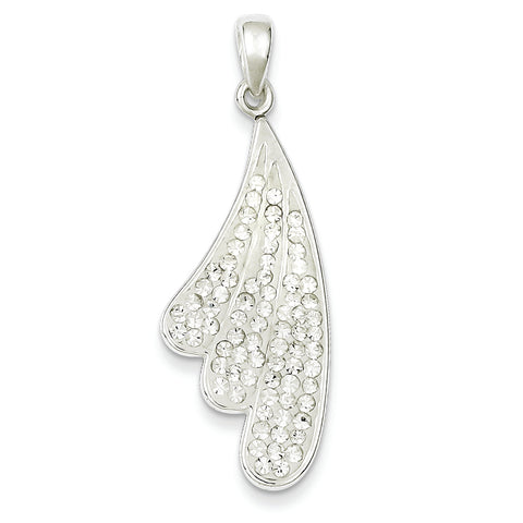 Sterling Silver Stellux Crystal & White Pendant