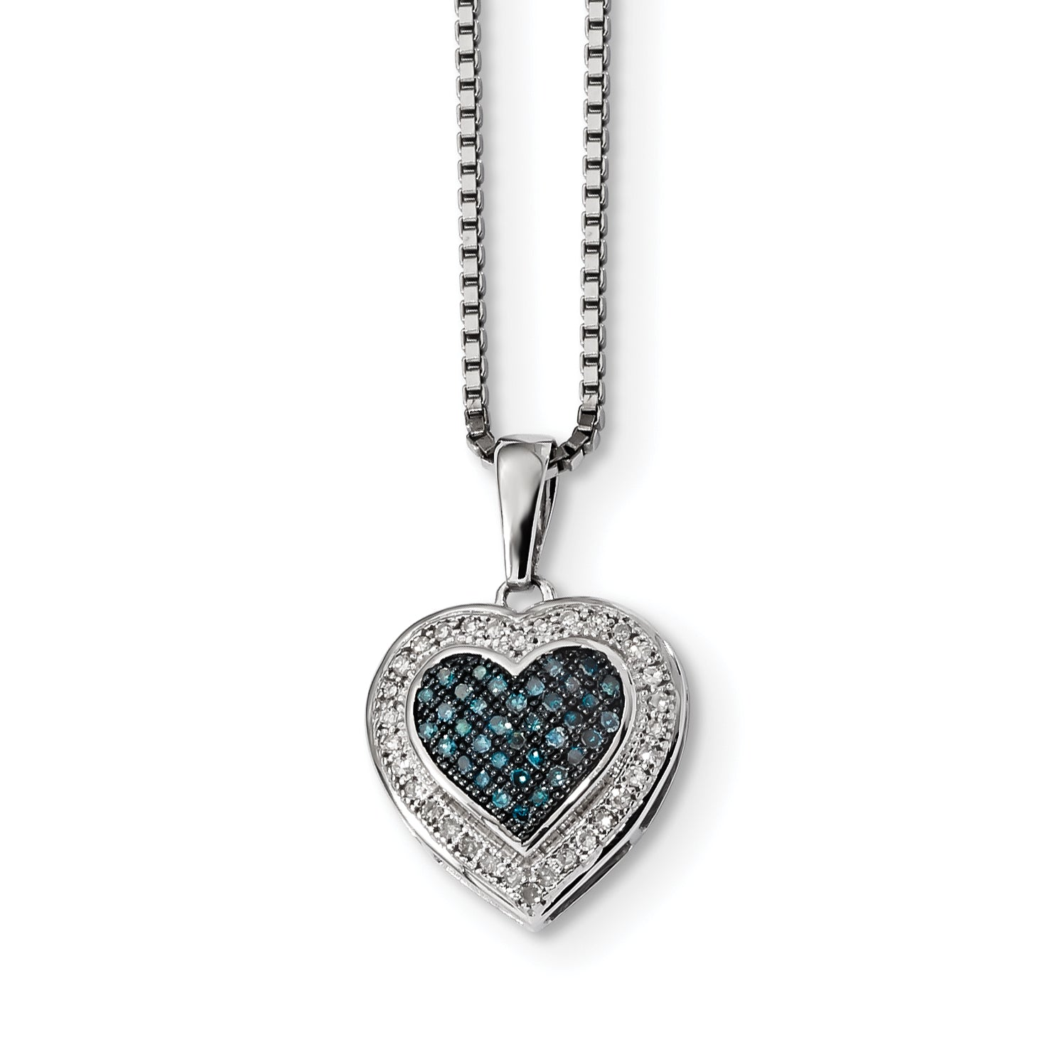 18-Inch Rhodium Plated Necklace with 6mm Rose Birthstone Beads and Sterling Silver Saint Juan Diego Charm.