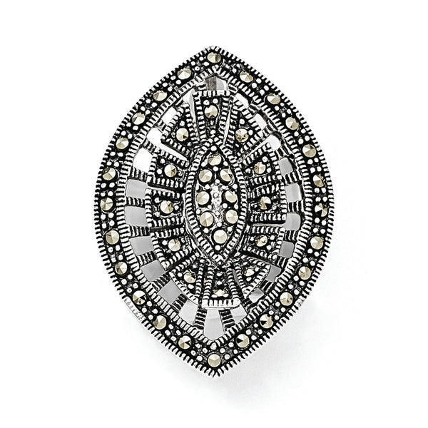 Sterling Silver Marcasite Pendant