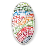 Sterling Silver Multi Color Mosaic MOP Pendant