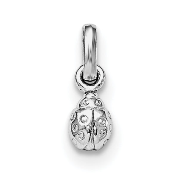 Sterling Silver RH Plated Child's Polished Ladybug Pendant