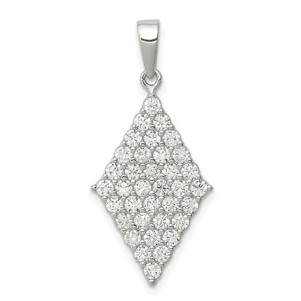 Sterling Silver Polished CZ Pendant