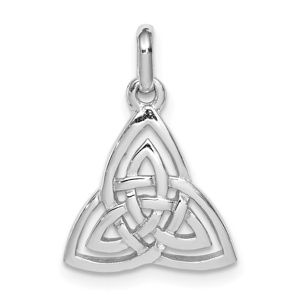 Sterling Silver Rhodium-plated Polished Celtic Symbol Pendant