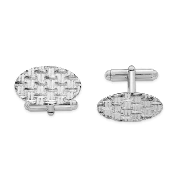 Sterling Silver Rhodium-plated Cuff Links