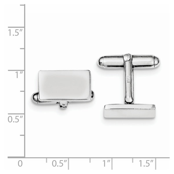 Sterling Silver Rhodium-plated and  Cuff Links