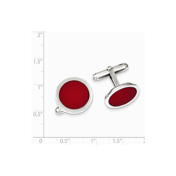 Sterling Silver Rhodium Plated Cuff Links