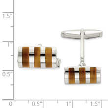 Load image into Gallery viewer, Sterling Silver Tigers Eye Cuff Links