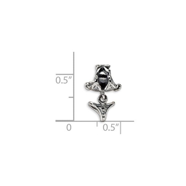 Sterling Silver Reflections Kids Swimsuit Dangle Bead