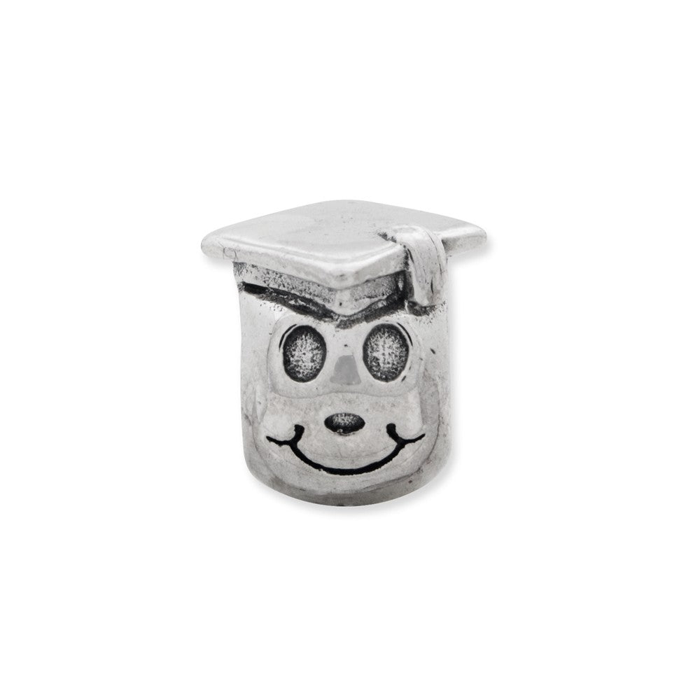 Sterling Silver Reflections Kids Happy Graduate Bead