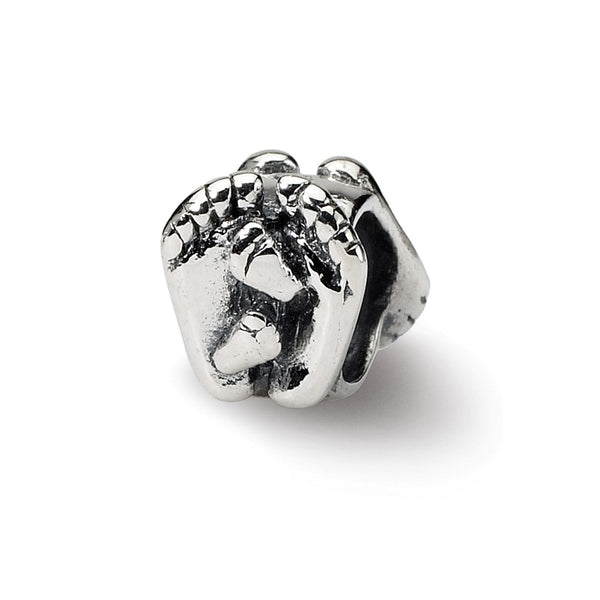 Sterling Silver Reflections Big & Little Feet Bead