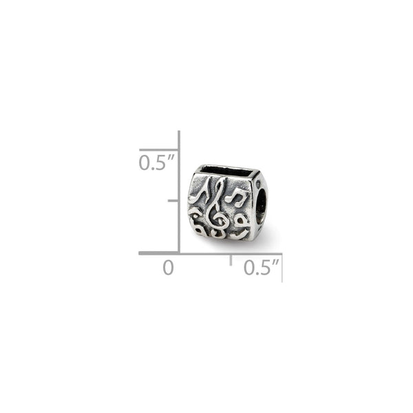 Sterling Silver Reflections Treble Clef & Notes Bead