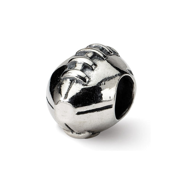 Sterling Silver Reflections Football Bead