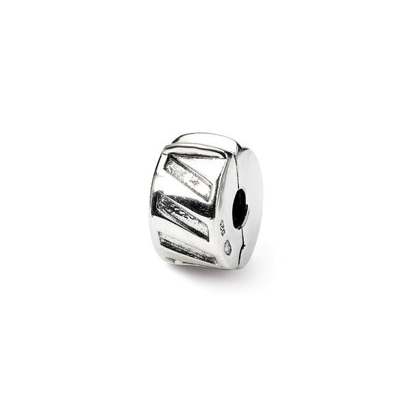 Sterling Silver Reflections Hinged Heart Clip Bead