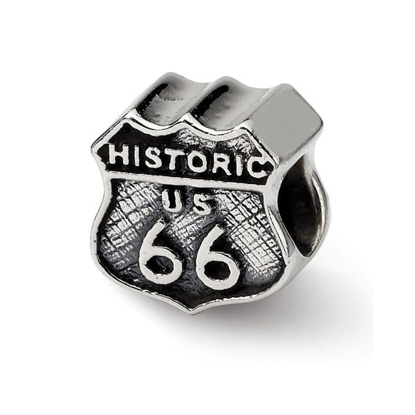 Sterling Silver Reflections Route 66 Bead
