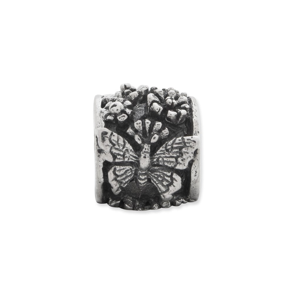 Sterling Silver Reflections Butterfly Bali Bead
