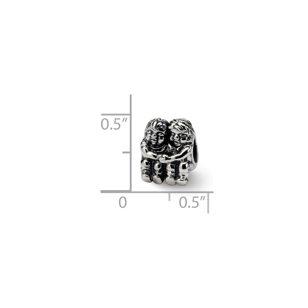 Sterling Silver Reflections Two Kids Bead