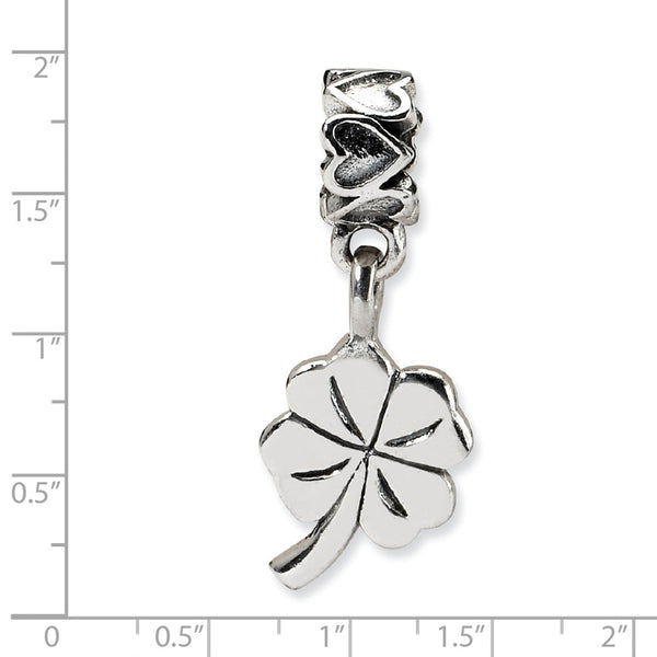 Sterling Silver Reflections Kids 4-leaf Clover Dangle Bead