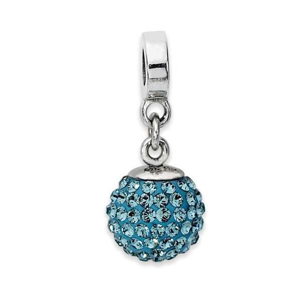 Sterling Silver Reflections Dec Swarovski Crystal Ball Dangle Bead