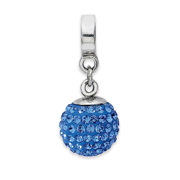 Sterling Silver Reflections Sept Swarovski Crystal Ball Dangle Bead