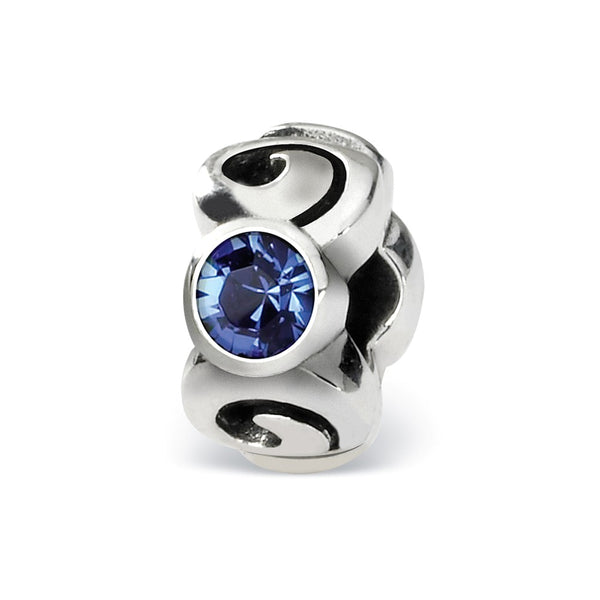Sterling Silver Reflections Sept Swarovski Crystal Birthstone Bead