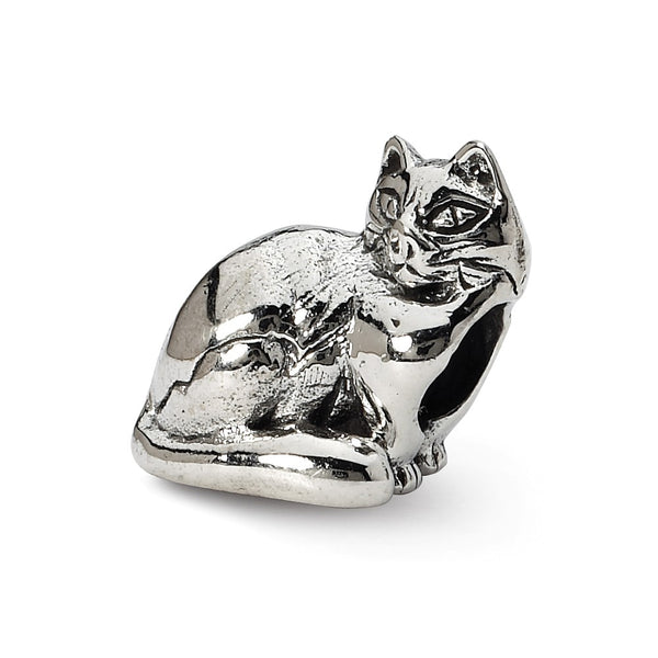 Sterling Silver Reflections Ragdoll Cat Bead