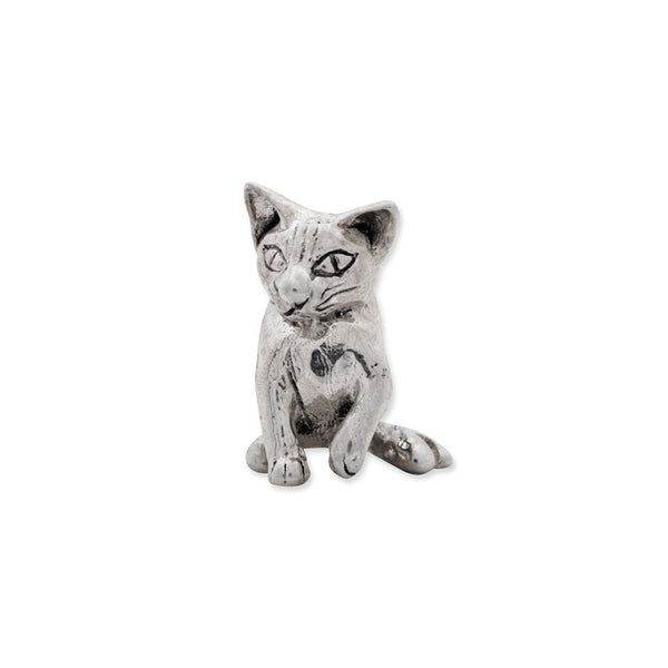 Sterling Silver Reflections Abyssinian Cat Bead
