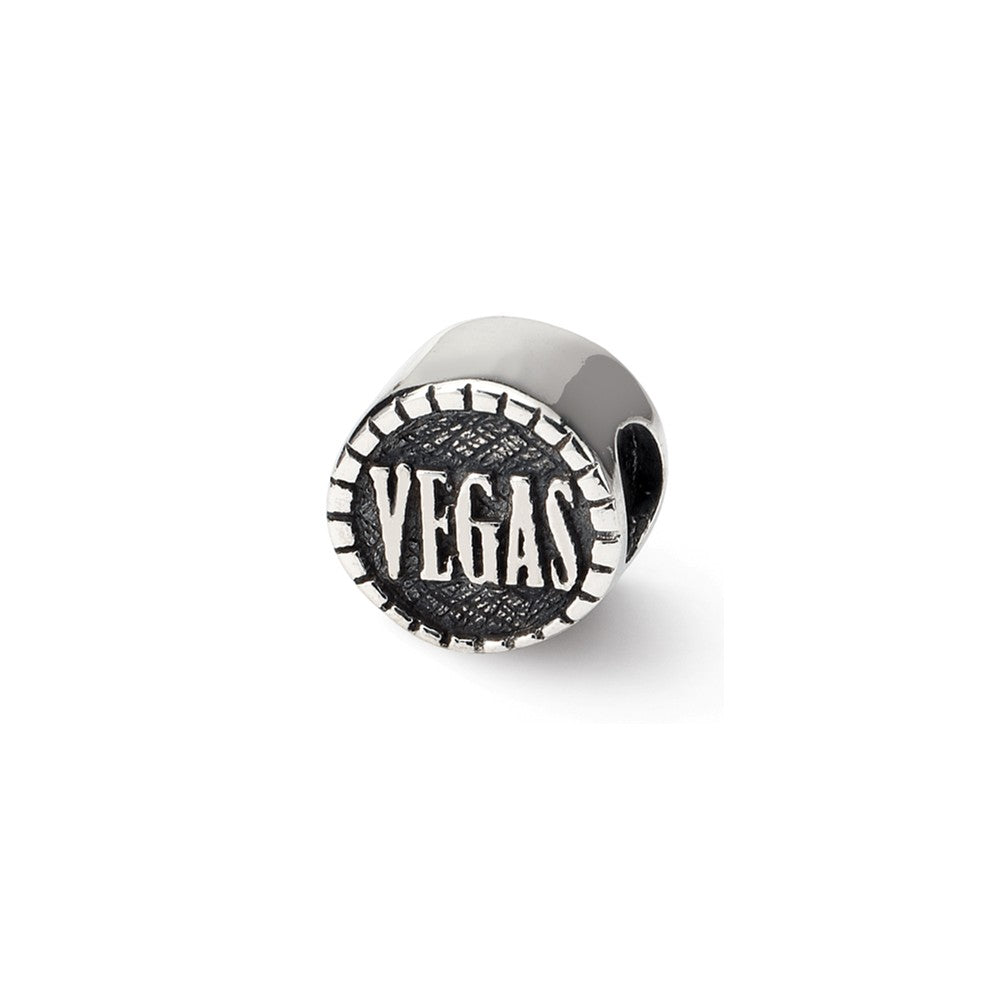 Sterling Silver Reflections 2-sided Vegas Bead