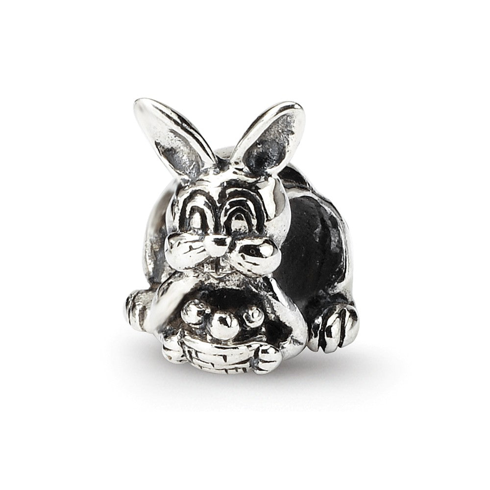 Sterling Silver Reflections Bunny with Basket Bead