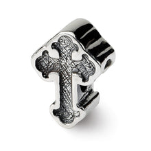 Load image into Gallery viewer, Sterling Silver Reflections Budded Cross Bead