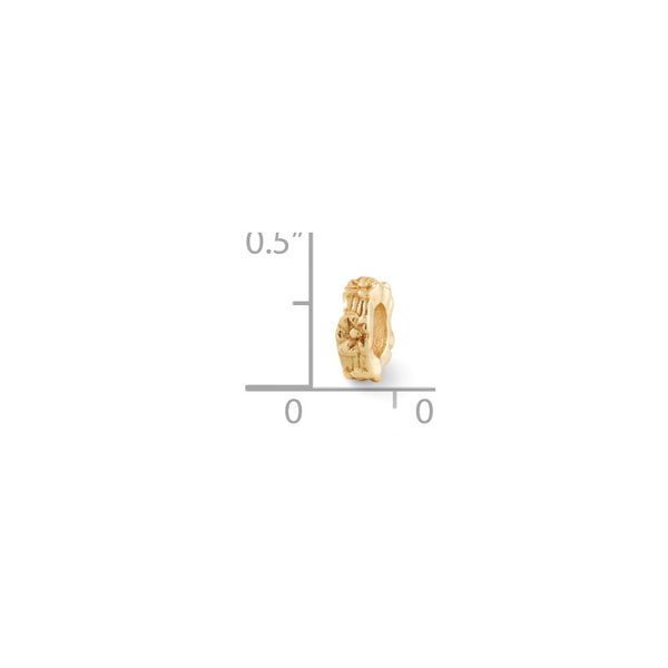 Sterling Silver Gold-plated Reflections Floral Spacer Bead