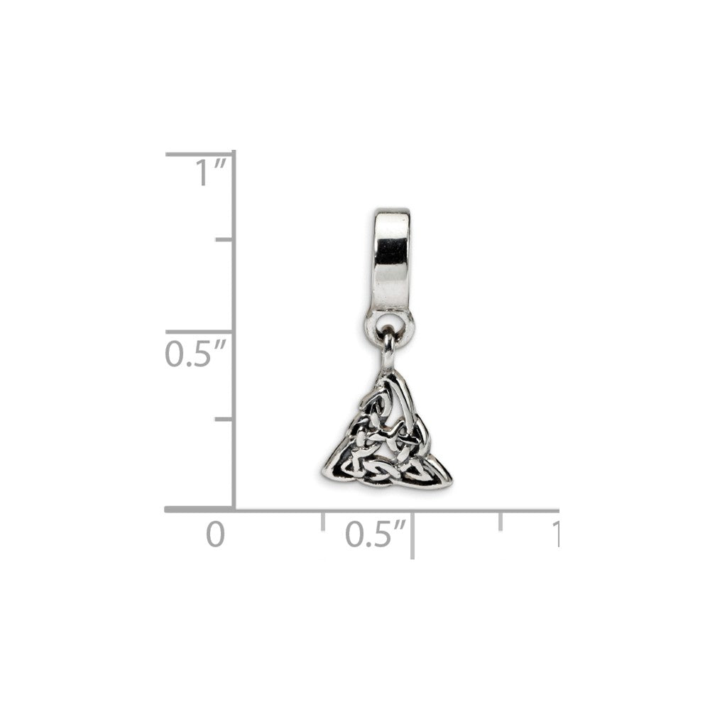 Sterling Silver Reflections Celtic Trinity Dangle Bead