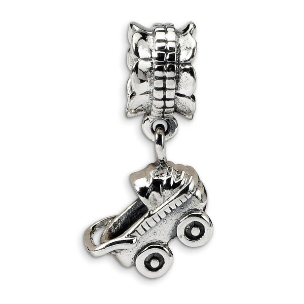 Sterling Silver Reflections Baby Buggy Dangle Bead