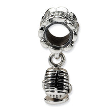 Load image into Gallery viewer, Sterling Silver Reflections Microphone Dangle Bead