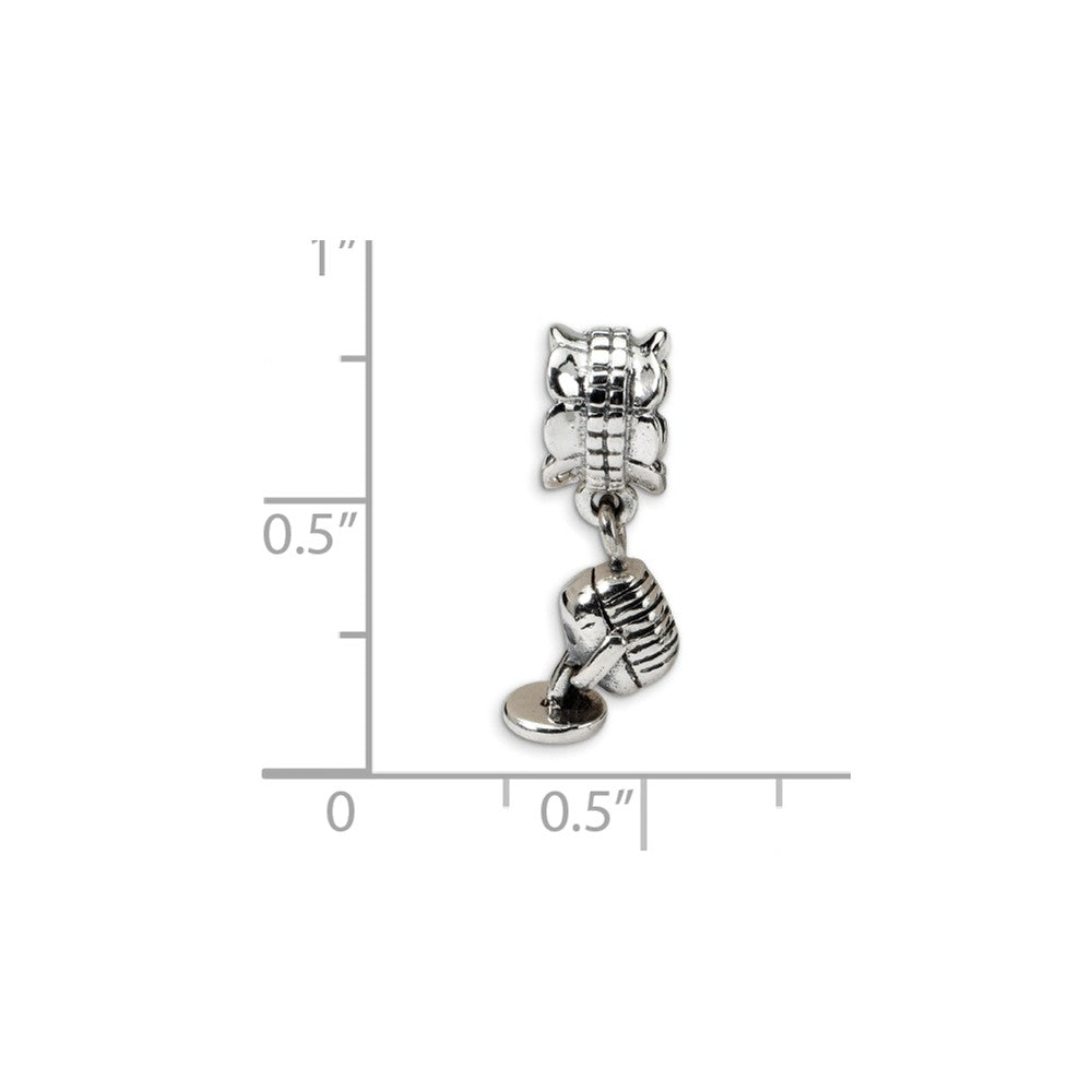 Sterling Silver Reflections Microphone Dangle Bead