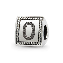 Load image into Gallery viewer, Sterling Silver Reflections Number 0 Triangle Block Bead