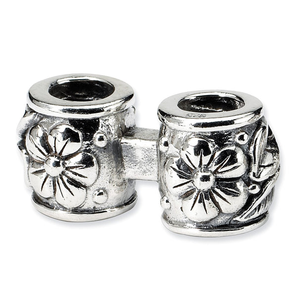 Sterling Silver Reflections Floral Connector Bead