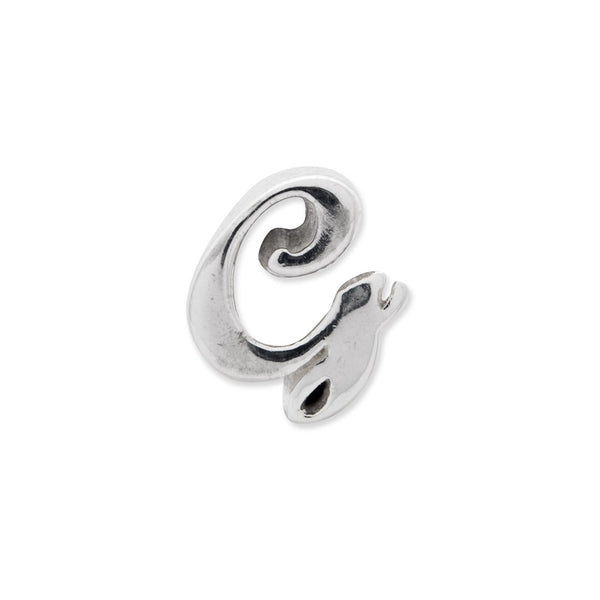 Sterling Silver Reflections Letter G Script Bead