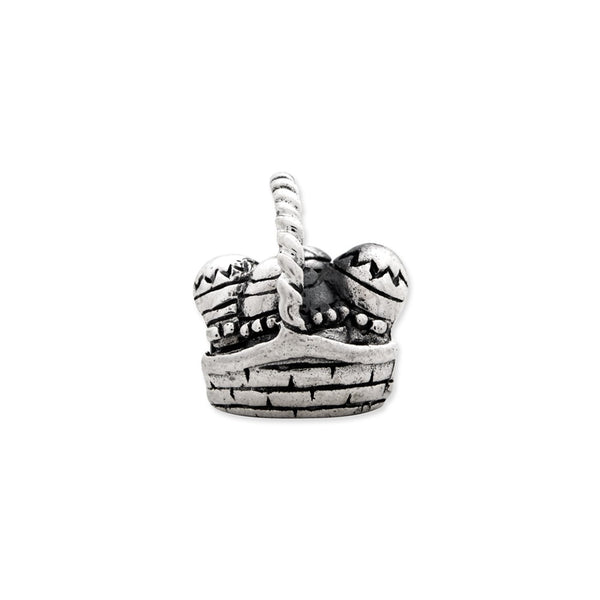 Sterling silver Reflections Easter Basket Bead