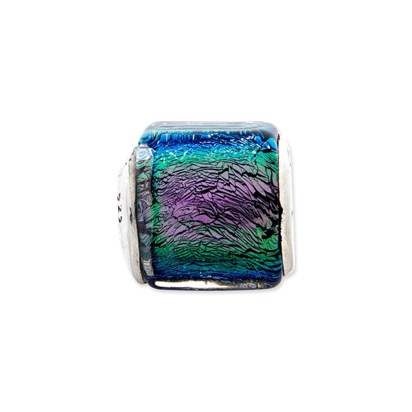 Sterling Silver Reflections Purple/Pink/Green Dichroic Glass Bead