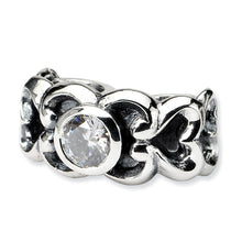 Load image into Gallery viewer, Sterling Silver Reflections CZ Connector Bead