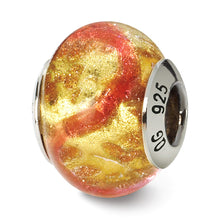 Load image into Gallery viewer, Sterling Silver Reflections Yellow/Pink/Gold Italian Murano Bead