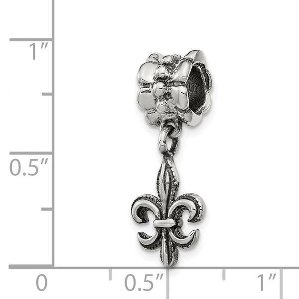 Sterling Silver Reflections Fleur de Lis Dangle Bead