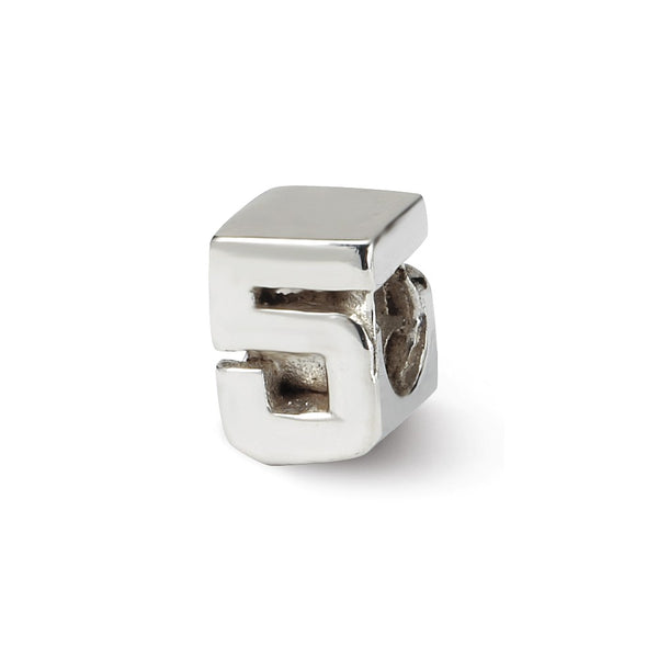 Sterling Silver Reflections Kids Number 5 Bead
