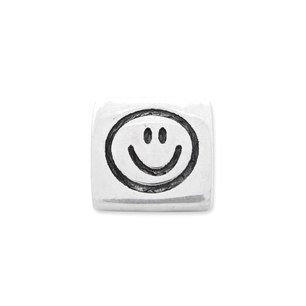 Sterling Silver Reflections Peace, Smiley Face & Heart Trilogy Bead