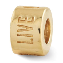 Load image into Gallery viewer, Sterling Silver Gold-plated Reflections Live Laugh Love Spacer Bead